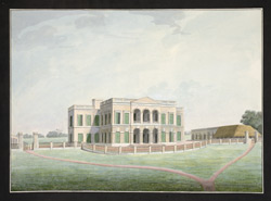 Front view of the East India Company's Factory at Cossimbazar